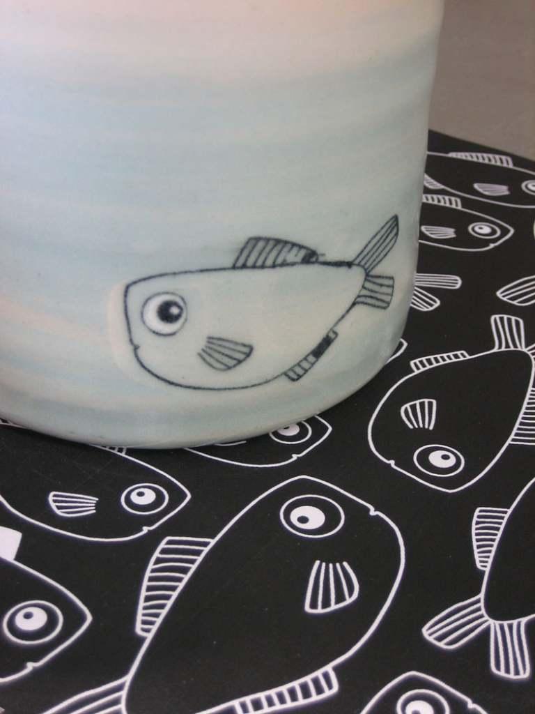 Umdruck auf Keramik